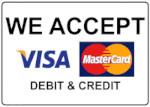 Graphic of credit card logos